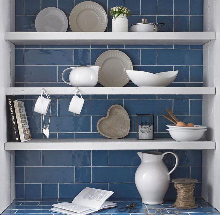 Kitchen Blue Wall Tiles: 18 Best Images About Kitchen Tiles Ideas On Pinterest