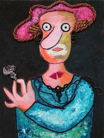 Jeune fille en fleur - Enrico Baj,1979