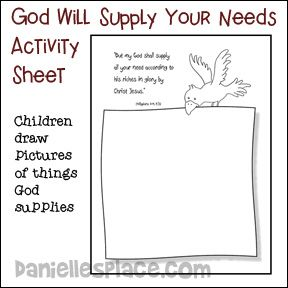 God Will Supply all Our Needs Activity