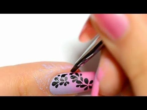 ▶ Fast & easy Nail art tutorial - YouTube
