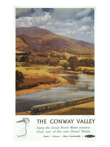 North Wales, England - Conway Valley Scene British Railways Poster Print at Art.com