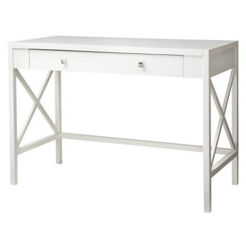 Hamilton X Slat Office Desk : Target- What a clean, preppy desk for small spaces and apartments // Top pick for SOCIAL by SAM http://wp.me/p6t6se-53