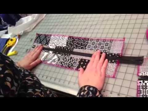 Part 1 Zipper panel for top of tote bag - YouTube  Very helpful  tutorial.  5 in all.  All accessible from this site.