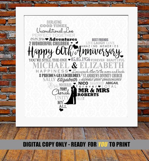 Ideas For 60th Wedding Anniversary Gifts For Parents: 19 Best Images About Photo Gift Ideas On Pinterest