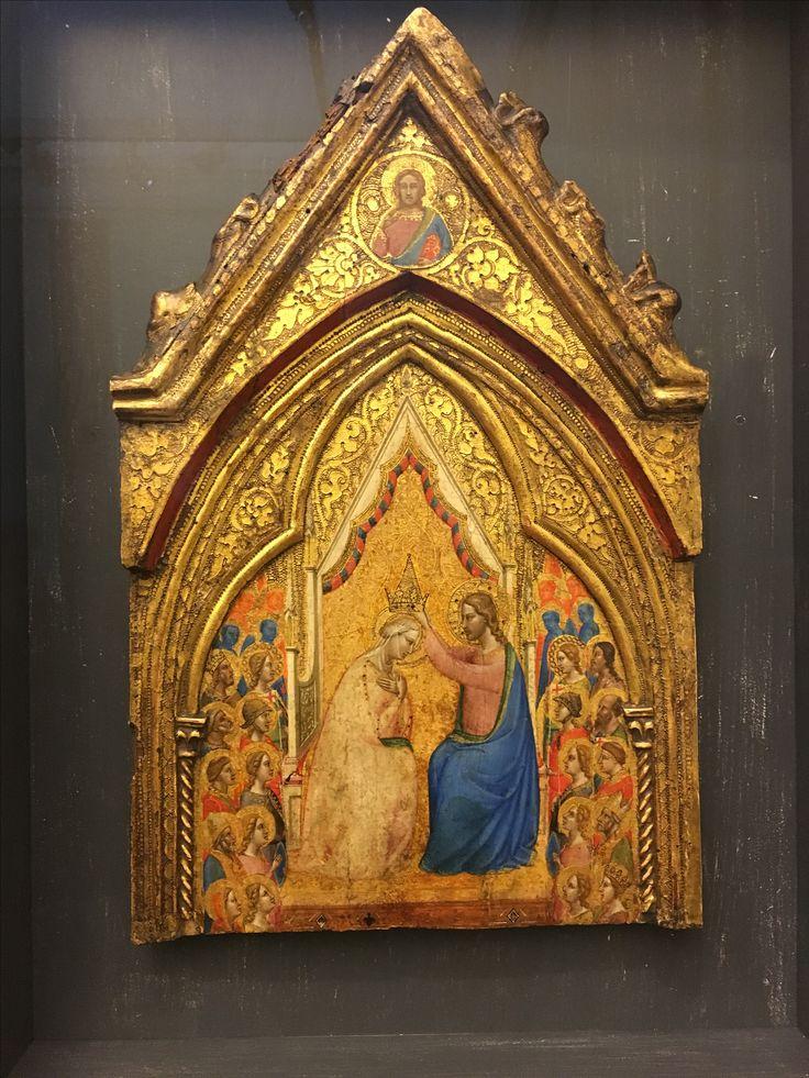Incoronazione della Vergine, Bernardo Daddi, metà XIV secolo, tempera e oro su tavola, Galleria Sabauda, Torino.