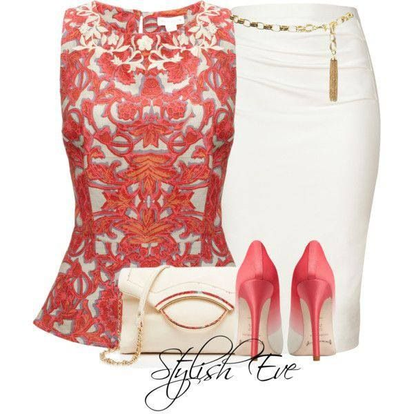 Super cute...love the top, not sure I could keep a white skirt clean though!
