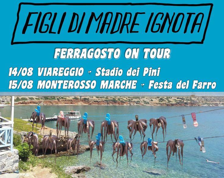 Ferragosto Tour 2015 #sexmusicpasta