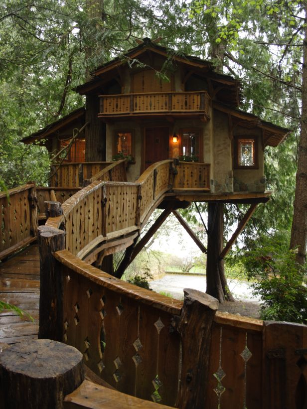 A Treehouse?  This one is lovely and looks so romantic.  Easy access is a big plus.