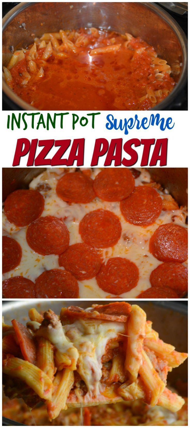 Instant Pot Pizza Pasta (made Hawaiian and delicious) change pasta to 1 lb and it was perfect!
