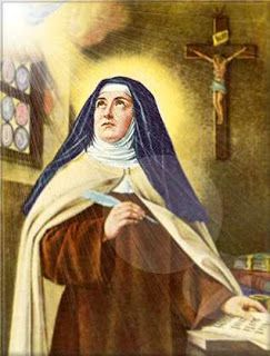 October 15th is the Feast of St. Teresa of Avila , a great saint and Doctor of the Church.   For her feast this year, I am planning on ...