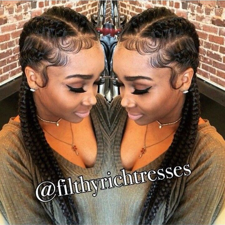 Protective Style Laid Edges Cornrows Hair Styles