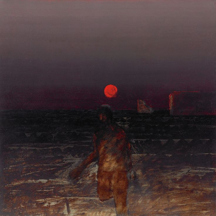 lawrence daws | Artwork by Lawrence Daws, RUNNING FIGURE II, Made of Oil on canvas