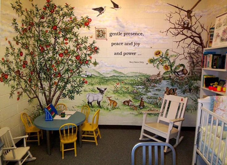 14 best church mural ideas images on pinterest mural for Church nursery mural