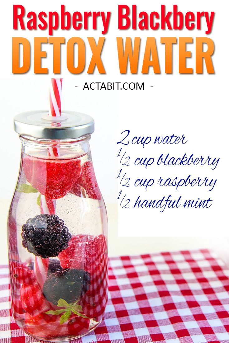 Try this Raspberry and Blackberry water and 5 other fruit-infused detox water recipes for weight loss and clear skin. These detox waters boost metabolism and burn fat. Check all 6 healthy drinks to lose weight: http://www.actabit.com/detox-water-recipes/ ‎