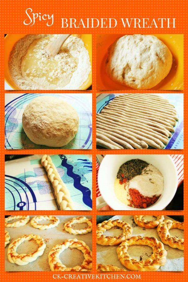 HOMEMADE SPICY BREAD WREATH