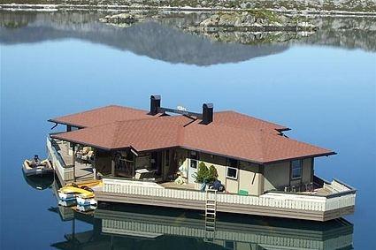 Einzigartiges Wasserhaus in #Norwegen mit Motorboot und Ruderboot. Bei fewoVista.  #Ferienhaus