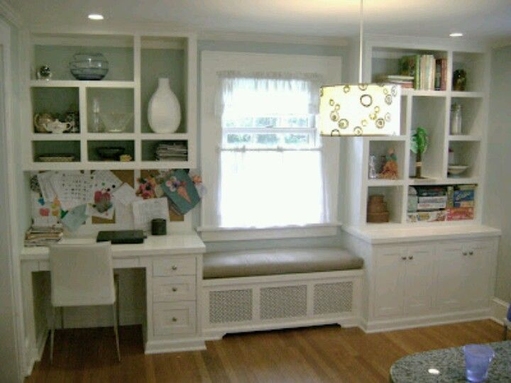 Bedroom window bench - put desk or dresser in middle window. then have his/her window benches with large drawers on both sides with bookshelves on adjacent wall.