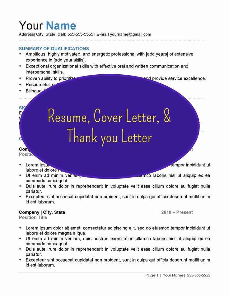 17 best ideas about standard resume format on pinterest