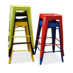 Replica Tolix Stools, 66cm High $47