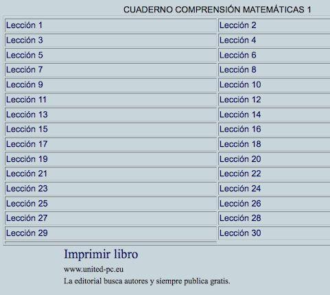 ALGUNOS RECURSOS PARA PRIMARIA: CUADERNOS DIGITALES VINDEL. CUADERNOS COMPRENSIÓN MATEMÁTICAS