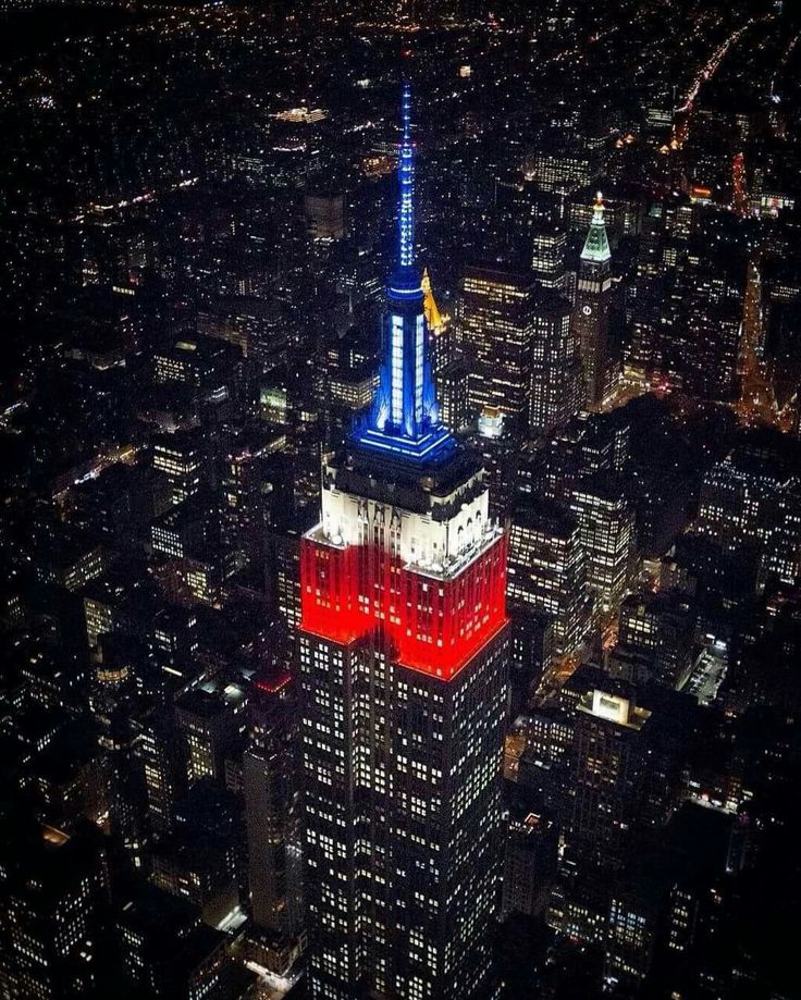 Empire State with Chile Flag