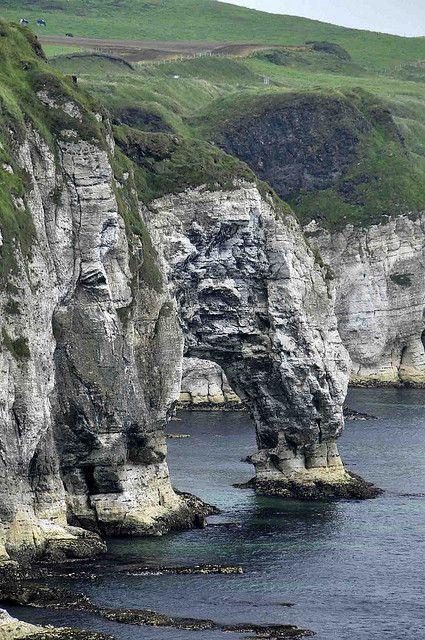 Natural Arch On The Irish Coast, Ireland #travel #holiday #UK: