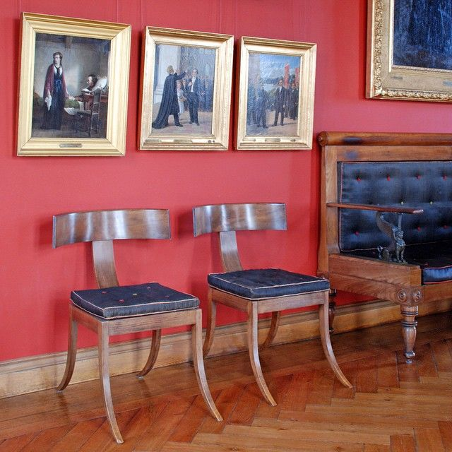 Interior at Frederiksborg Palace with exceptional Biedermeier furniture designed…