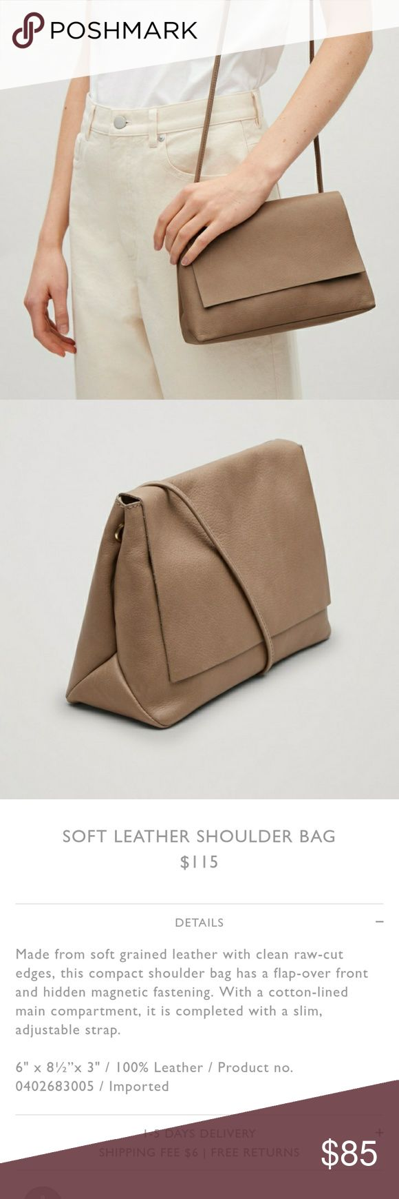 COS soft leather bag Like new. Comes with all original packaging. Color Taupe. COS Bags