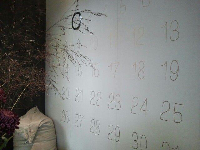 Muur-kalender op Woonbeurs 2014