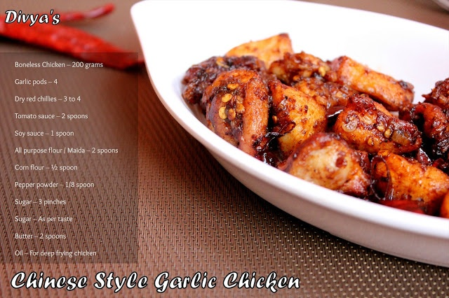 Chinese Garlic Chicken | Indian Cuisine | Pinterest