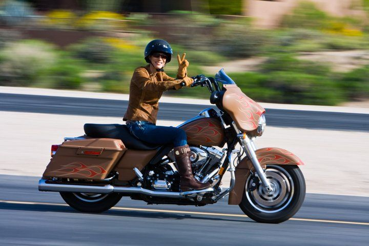 Genevieve Schmitt, founder of Women Riders Now (website).