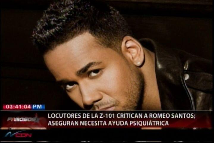Periodistas De La Z-101 Critican A Romeo Santos, Aseguran Que Necesita Ayuda Psiquiátrica