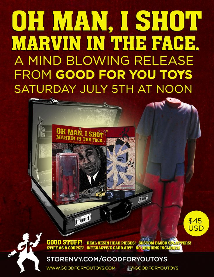 "MAN-E-NEWS// The ""Marvin"" Pulp Fiction custom bootleg from Good For You Toys…"