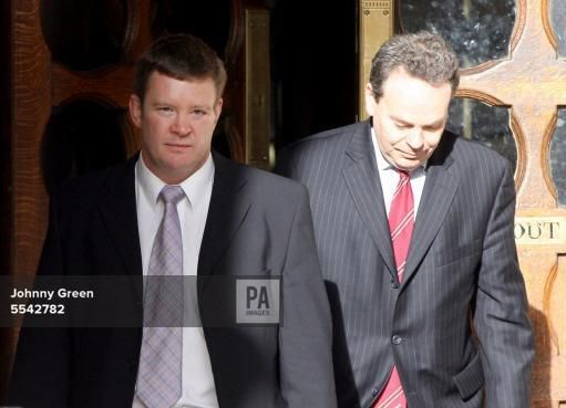 jan 24, 2008--Diana Inquest--Trevor Rees (left), the former bodyguard of Princess Diana and the sole survivor of the Paris car crash that claimed the lives of the Princess, Dodi Fayed and the driver Henri Paul, leaves the Royal Courts of Justice in central London