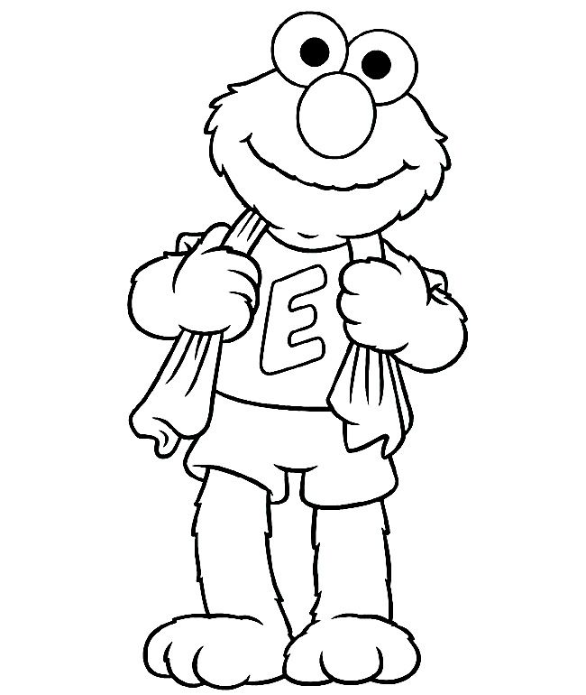 Sesame Street Coloring Pages Elmo