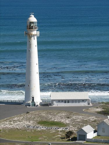 Slangkop Lighthouse in Kommetjie, Cape Peninsula, Western Cape, South Africa