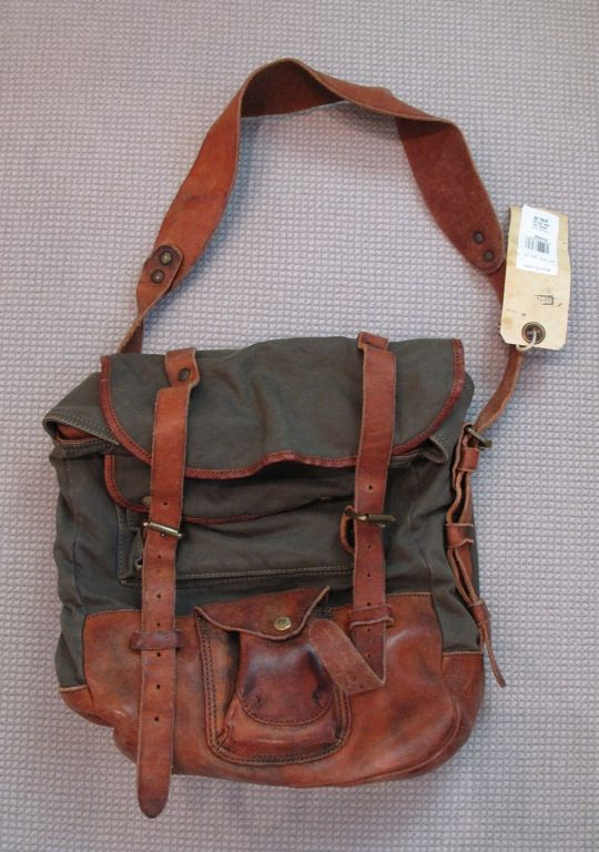 leather canvas messenger bag