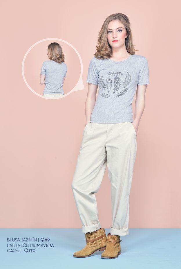 Disponible en colores blanco, gris y azul. Tallas: xs - s - m - l - xl Precio: Q89  Pantalón Primavera caqui Talla: 8 Precio: Q170