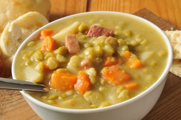 Skinny Points Recipes  » Crockpot Split Pea Soup