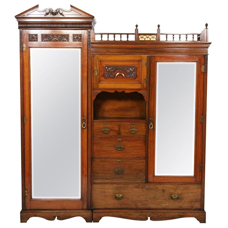 Victorian Walnut 3 Door Armoire / Wardrobe