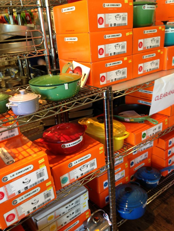 Get your Le Creuset on! Massive warehouse blow-out sale, now on...  #leCreuset #Awesome