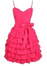 cerise pink prom dress from paris