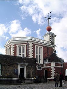 The Royal Observatory, Greenwich  in London, England played a major role in the history of astronomy and navigation, and is best known as the location of the prime meridian. It is situated on a hill in Greenwich Park, overlooking the River Thames.