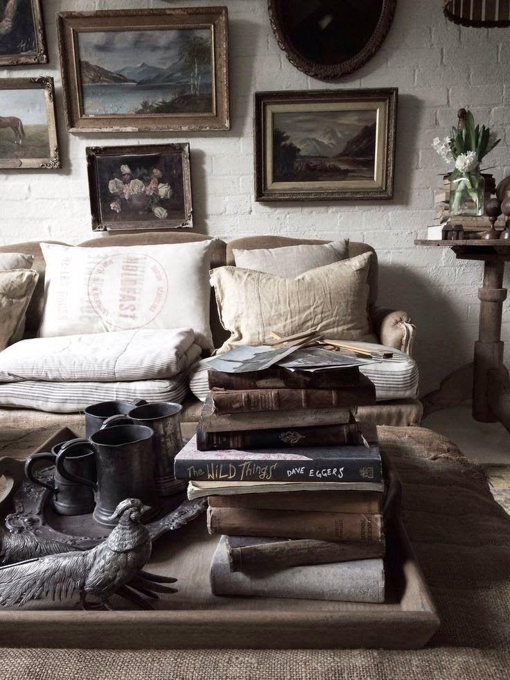 Lynda Gardener Painting Old Frames Books Livingroom