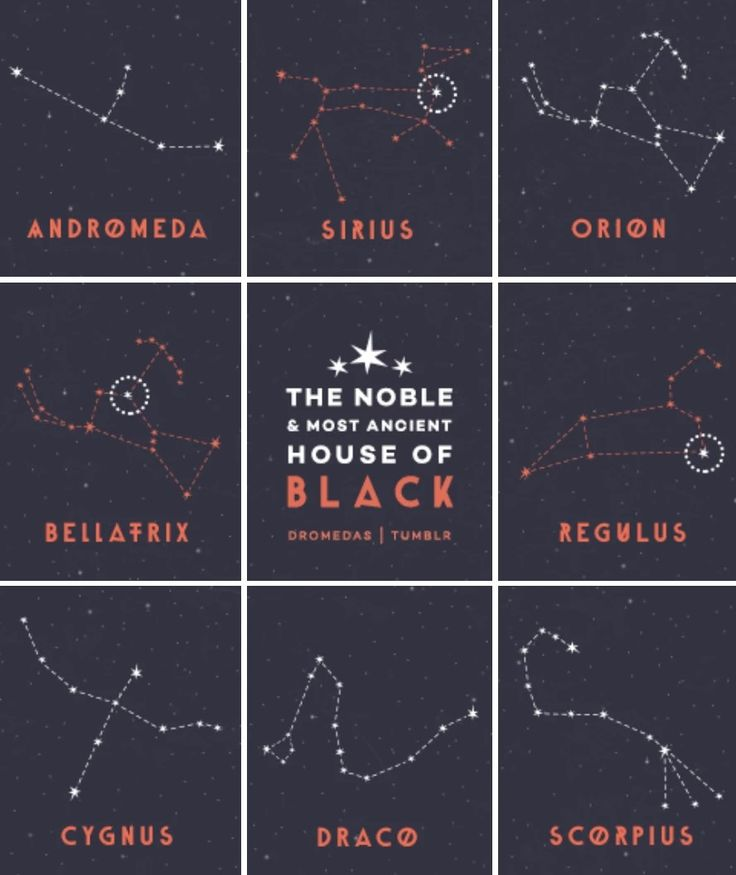 The ancient and noble House of Black, names and connotations