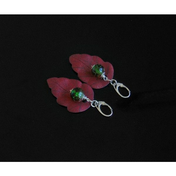 leather leaf earrings, leather earrings, leather jewelry, leather leaves, leather silver, leather handmade, leaves jewelry (120 PLN) found on Polyvore featuring women's fashion, jewelry, earrings, trend, silver leaf jewelry, leather jewelry, silver jewellery, silver leaf earrings and silver jewelry
