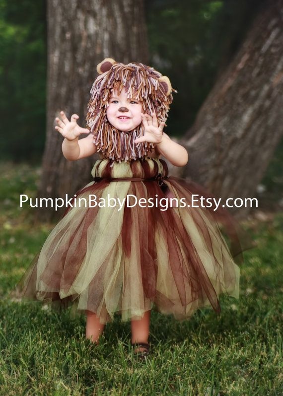 Lion Costume - Lion Tutu - Lion Mane - Wizard of Oz - Halloween Costume - Cowardly Lion - Infant Costume - Toddler Costume - Girl Costume on Etsy, $40.00