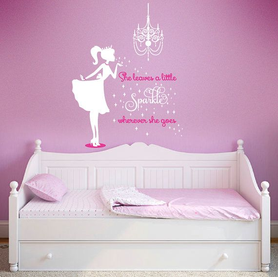 Ballerina Wall Decal Sparkle Wall decal Nursery by PolkaDotWalls