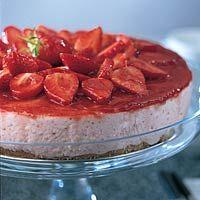 Kwarktaart met aardbeien - Recept - Allerhande - Albert Heijn