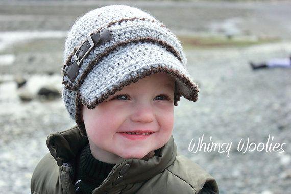 Cutest little boy hat ever! Crochet pattern from Whimsy Woolies